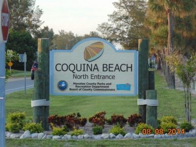 Coquina Beach Entrance Sign